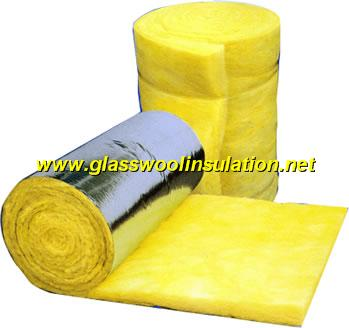 glass wool blanket/roll/batts with aluminum foil